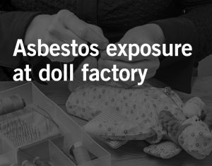 cancer caused by the inhalation of asbestos fibers