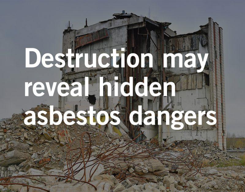 Asbestos exposure after environmental disasters