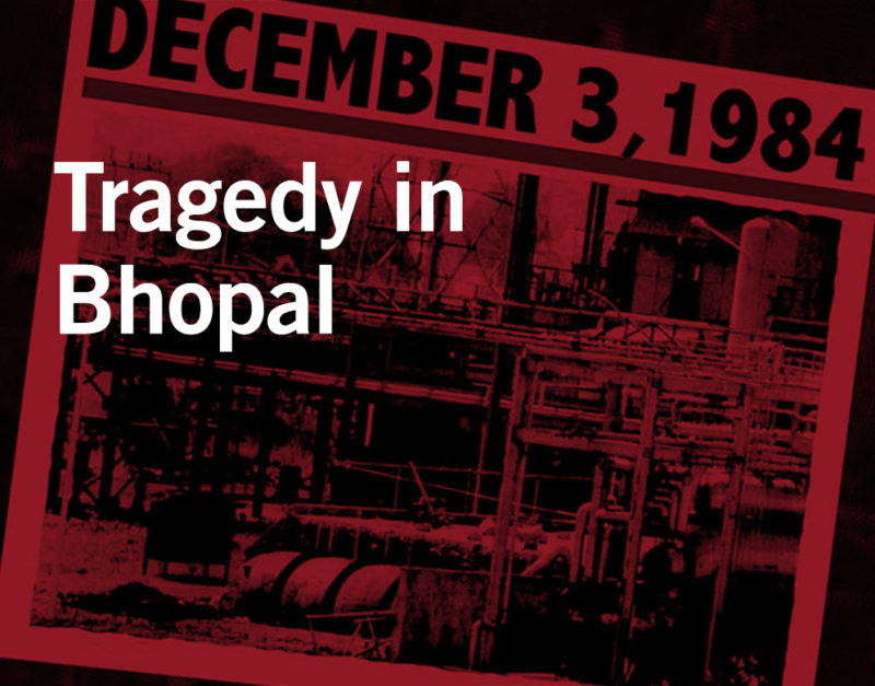 The Bhopal India Gas Tragedy at Union Carbide pesticide factory